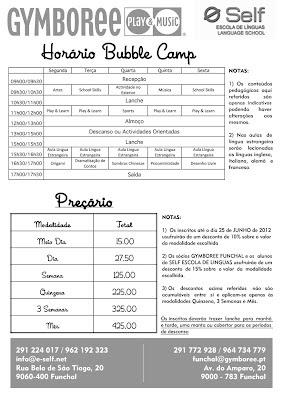 O Verão já chegou e com ele o BUBBLE CAMP do Gymboree Funchal!!! 2