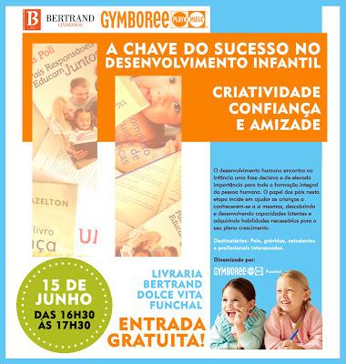 O Gymboree Funchal marca presença na Livraria Bertrand com tema sobre desenvolvimento infatil 3